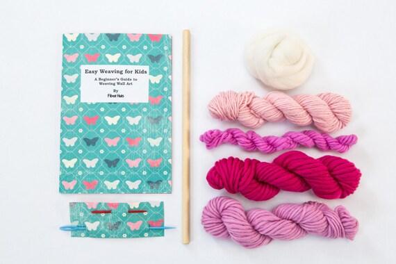 Kidu0027s Weaving Wall Art Kit - Pink Weaving from RockPaperStitch on Etsy Studio & Kidu0027s Weaving Wall Art Kit - Pink Weaving from RockPaperStitch on ...