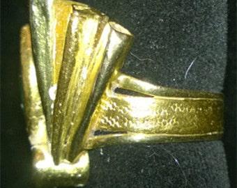 Miye Matsukata 18 and 24K ring with diamond and jade