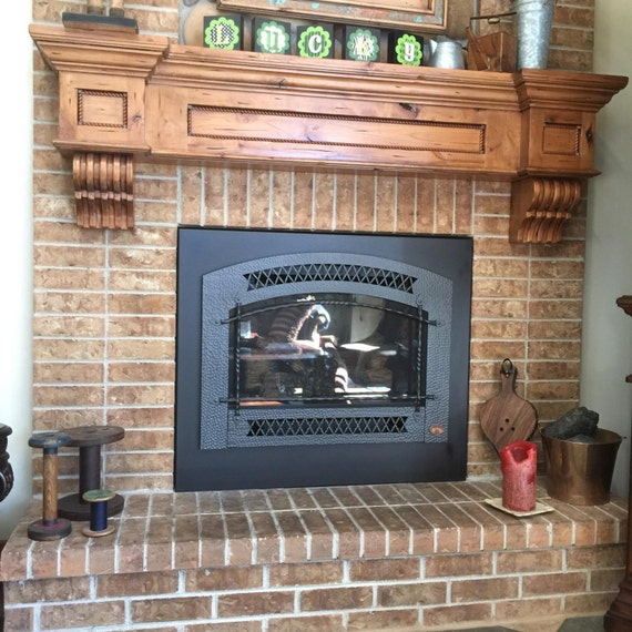 Materials Distressed And Glazed: Fireplace Mantel & Corbels / Knotty Alder Distressed Glazed