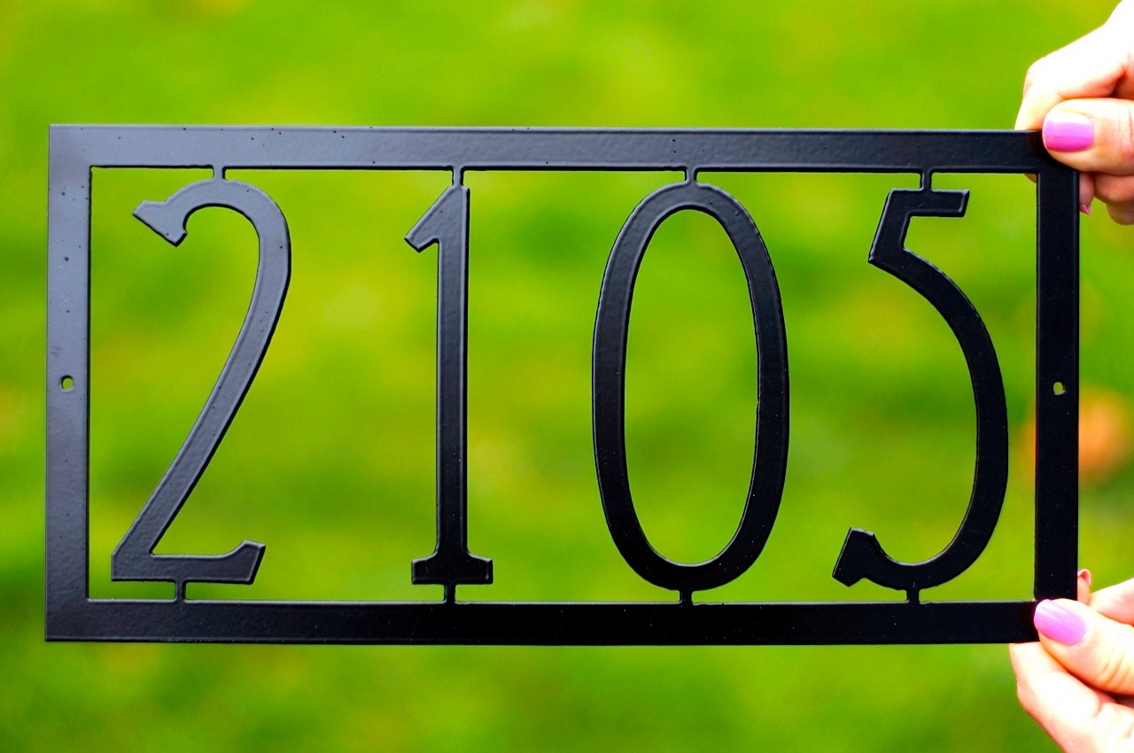 mission house numbers art deco house number modern house