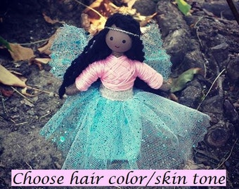 Fairy Doll - African American - Black Fairy Doll - Bendy Doll - Dark skin Doll - Fairy - Princess - Faerie - Fairy Garden
