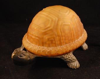 Glass turtle lamp