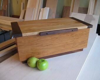 Large Wooden box of Cherry, Walnut, Oak and Ebony
