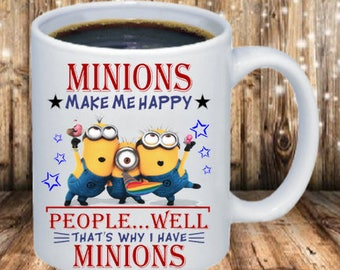 Minions make me Happy Coffee Cup