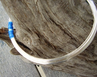 18 GauGe 1/2 round Sterling SilVer WiRe 3 Ft.