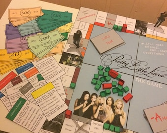 Pretty Little Liars Board Game, Monopoly Game, Gifts For Her, Troian Bellasario, Lucy Hale, Teenager Gifts, Birthday Present, Game Board