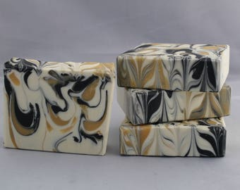 Perfect Man Scented Hand Made Cold Process Bar Soap, Best Seller, Artisan Soap, Black & Gold Soap, Mens Fragranced Soap