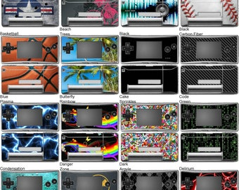 Choose Any 2 Vinyl Skin/Sticker/Decal Designs for Nintendo Gameboy Micro
