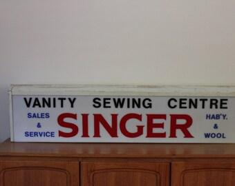 Vintage Singer Sewing Centre Sign