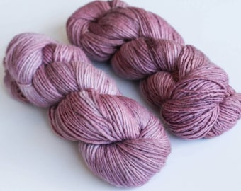 100% Merino Wool Single Ply Worsted Weight Tonal Hand Dyed Yarn in *PURPLE SAGE *