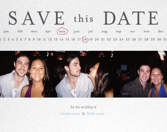 Pearl Save the Date Cards (Qty 10) 5x7