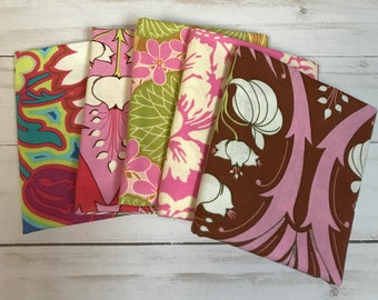 Amy Butler Set of 5 Fat Quarters Pink