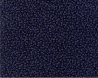 Moda Thistle Farm Dark Blue Petite Primrose Flower  #9537 14