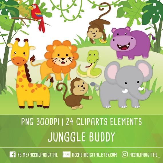 jungle animal clipart jungle friends clipart jungle clipart rh etsy com jungle clip art free printable jungle clipart free