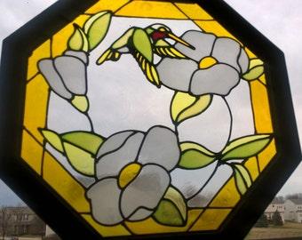 Hummingbird Stained Glass Suncatcher