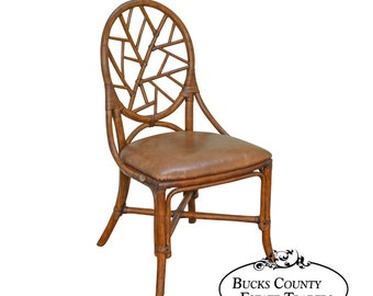 Marvelous Bombay Company Rattan Cameo Spider Back Side Chair