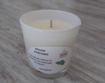 """Bougie Artisanale Parfumée verre opaque """"Patchouli"""""""