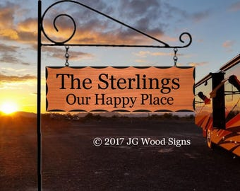 Wooden Cabin Sign Etsy Scalloped Edge - Custom Camping Sign - Christmas Gift Cottage Sign Wood Camper Sign JGWoodSigns Sterling
