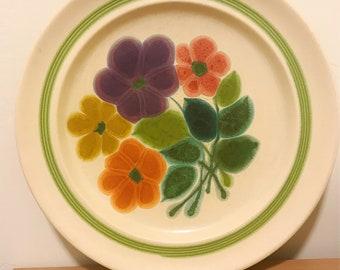Set of 5 Franciscian Earthenware Plates