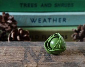 By the Shed Brussels Sprout Pin Badge - Lapel Badge Tie Pin - Green Christmas Lunch Jewellery - Gardening Allotment - Xmas - Vegetable Plot