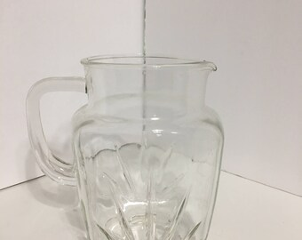Vintage Glass Star Burst Pitcher