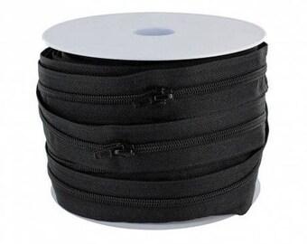 Zipper spiral (4.8 mm) black nylon