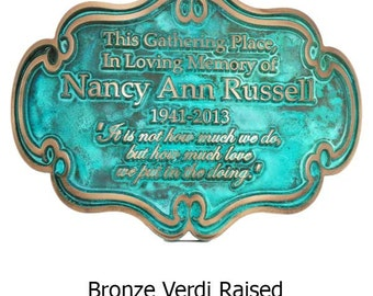 Victorian Style Memorial Plaque 16x12 inches Made in the USA by Atlas Signs and Plaques