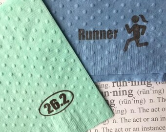 Paper Napkins - Running Theme - Runner Girl - Running Party - Color Run - Marathon - Half Marathon - Cross Country - Sport Theme - Fun Run