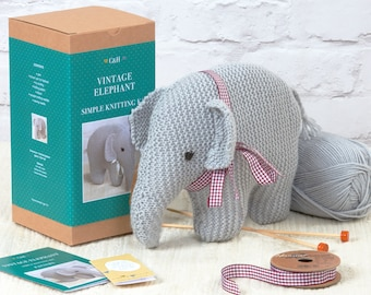 Vintage Elephant - Simple Knitting Kit
