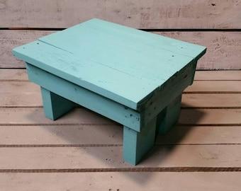 Wooden Step Stool-Reclaimed Step Stool-Handmade Step Stool-Pallet Step Stool-Rustic Bench