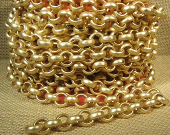 3 Feet 11mm Rolo Chain - CH115 - Matte Gold