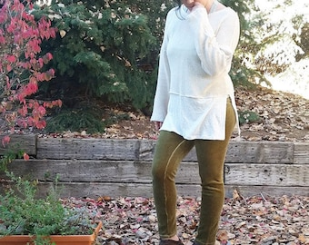 M Hemp Faux Layer sweater