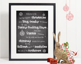 Printable Christmas Welcome Sign | Christmas Vacation | Clark Griswold Quote | National Lampoons
