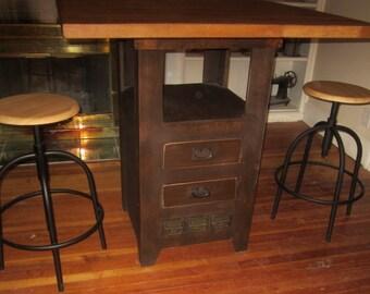 Beautiful Solid Poplar Kitchen Island/Pub Table