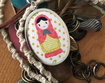 Nesting Doll Pendant