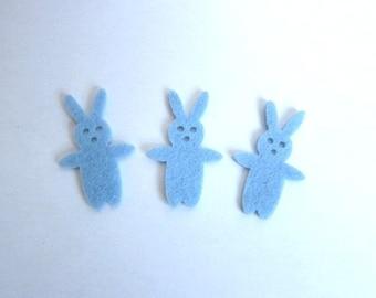 1 Blue Rabbit felt embellishment
