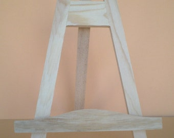 Set of 10 table top easels / table card holder pine 25 cm
