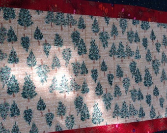 Holiday Table Runner, Reversible Table Topper, Christmas Table Decor, Fall Home Decor, Winter Table, Quiltsy Handmade