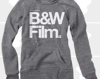 Black & White Film, Women's Sweatshirt, Women Clothing, Sweatshirt, Slouchy Sweatshirt, Oversized Sweatshirt, Photography Gift, Camera Shirt