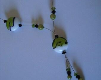 Black and white original green fashion necklace