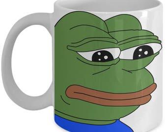 Funny Cartoon Office Meme : Pepe sad frog meme funny mug gifts for him meme mug