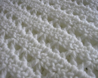 Baby Afghan - 36x36 - white