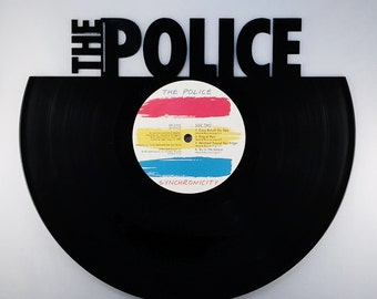 Recycled Vinyl Record THE POLICE Wall Art