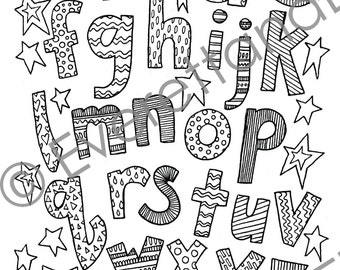 """Digital Download """"Lowercase Letters"""" Coloring Page"""