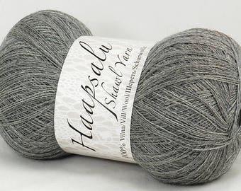 100% Wool Gray Yarn Haapsalu Shawl Yarn