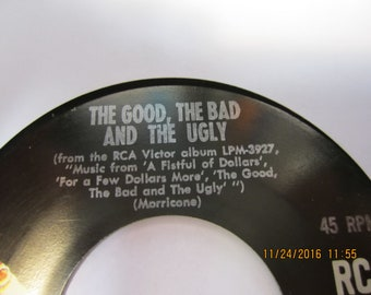 March With Hope and Good, Bad & Ugly - Hugo Montenegro - RCA Victor 45 RPM