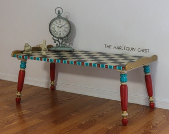 Hand-Painted Vintage Early American Style Table