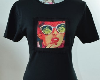 The Girl with Glasses - Pop Art T-shirt - Comic Strip t-shirt