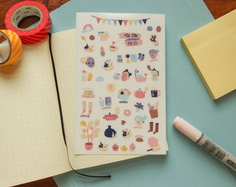 You can do it ~ Planner stickers sheet