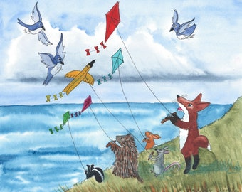 Notecard: Kite-flying weather